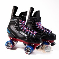 CUSTOM - Bauer Nexus N5000 Quad Roller Skates - Probe/Rock Plate